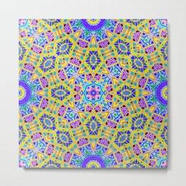 Persian kaleidoscopic Mosaic G521 Metal Print