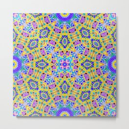 Persian kaleidoscopic Mosaic G521 Metal Print