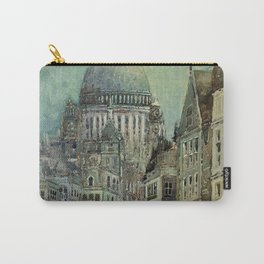 London's St Pauls and Ludgate Hill - Oil Painting, London, England Townscape by Godwin Bennett Carry-All Pouch