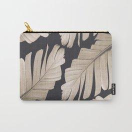 Sepia Banana Leaves Dream #1 #foliage #decor #art #society6 Carry-All Pouch