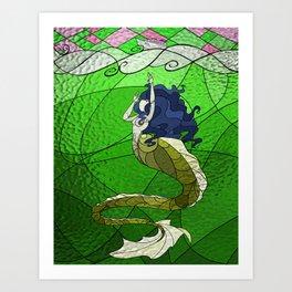Primeval Mermaid (green) Art Print