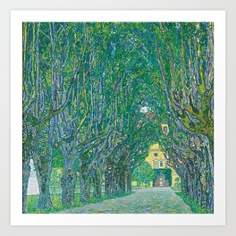 Avenue In The Park Of Schloss Kammer Art Print