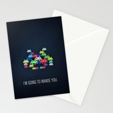 invader boss Stationery Cards
