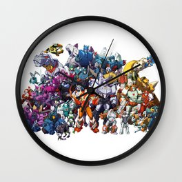 30 Days of Transformers - More Than Meets The Eye cast Wall Clock
