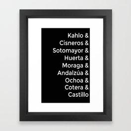 Latina Women Framed Art Print