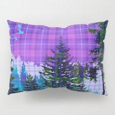 Moonlit Plaid Forest Pillow Sham