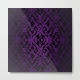 Purple tribal shapes pattern Metal Print