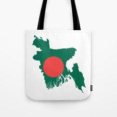 Bangladesh flag map Tote Bag