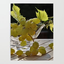 Grapes on the Table Poster
