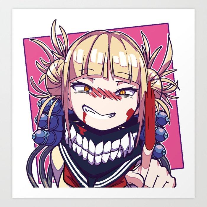 Himiko Toga Villain Bha Art Print By Arkel1