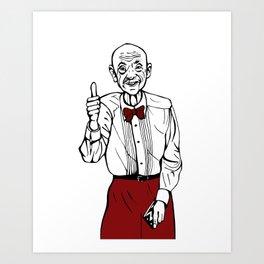 Waiter from Twin Peaks Art Print