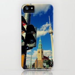 Berlin mit Fernsehturm iPhone Case