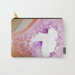 Agate Druzy Yellow & Purple Carry-All Pouch