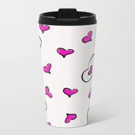 Hearts Metal Travel Mug