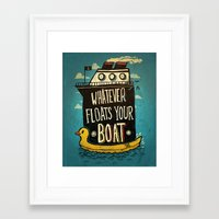 quotes Framed Art Prints featuring Quotes by Ronan Lynam