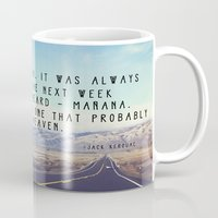 kerouac Mugs featuring Hwy 1 Kerouac by Altgasse Designs