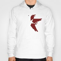 infamous Hoodies featuring Infamous Eagles by Rebekhaart
