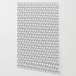 Pretty Pussy Cats On Grey Wallpaper