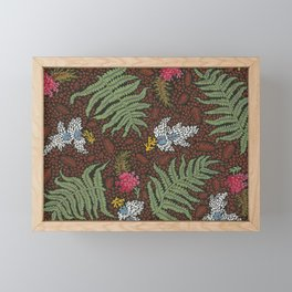 Vintage Floral Fern Print Framed Mini Art Print