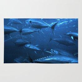 School of Yellowfin Tuna Rug