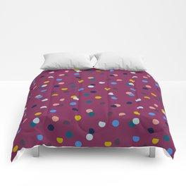 Purple Confetti Spot Comforters