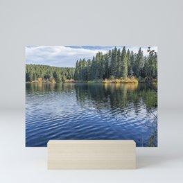 Rippled Reflections on Clear Lake Mini Art Print