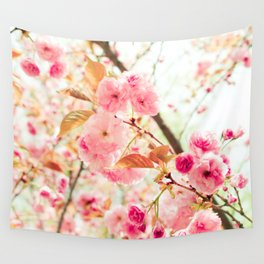 Pink Blooms (2) Wall Tapestry