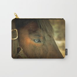 Horse Eye Close Up. Golden Age Painting Style. Carry-All Pouch