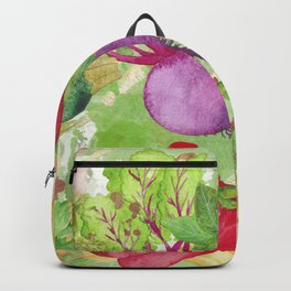 Mixed Vegetables Watercolor Backpack