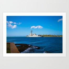 Navy ship 3 Art Print