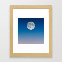 moon evening Framed Art Print