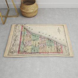 Berrien County Michigan Map Rug