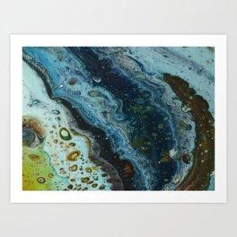 Seashore Pebbles Art Print