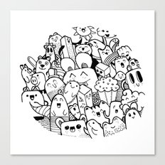 happy circle doodle Canvas Print