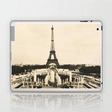 Eiffel Tower - Vintage Post card Laptop & iPad Skin