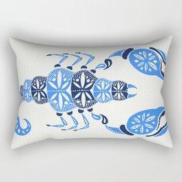 Blue Scorpion Rectangular Pillow