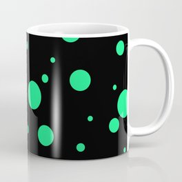 Green Bubbles On Black Coffee Mug