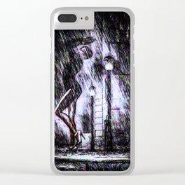 Dancing In The Rain Clear iPhone Case