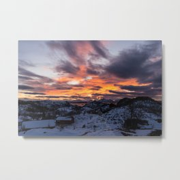 Sunset-rise Metal Print