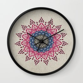 Digital Mandala #1 Wall Clock