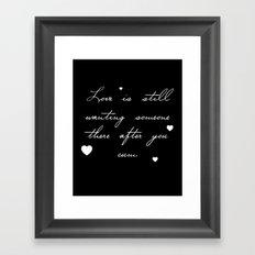 True Love Framed Art Print