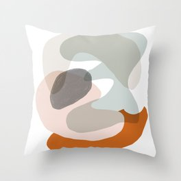 Shapes and Layers no.15 - soft neutral colors Throw Pillow