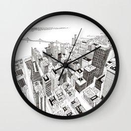 San Francisco 2 Wall Clock