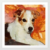 merlin Art Prints featuring Merlin by © maya lavda / wocado