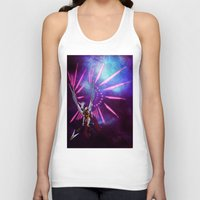 hologram Tank Tops featuring CYBORG - VALKYRIE by SOMNIVAGRIOUS
