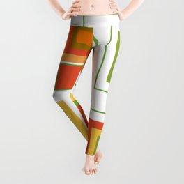 Retro Minimalist Square Design Leggings