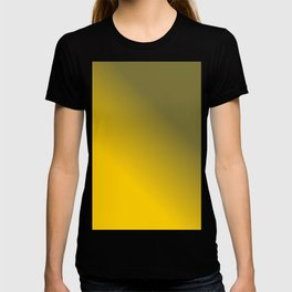 Yellow and Gray Gradient / GFTColor007 T-shirt