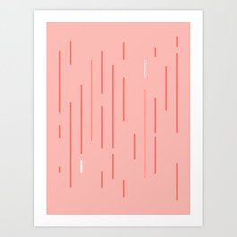 Living Coral Stripes Art Print