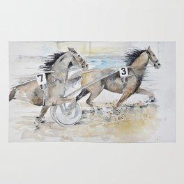trotting race Rug