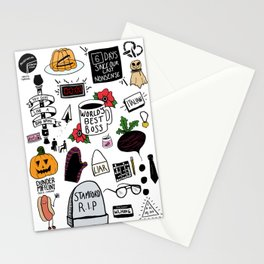 The Office doodles Stationery Cards